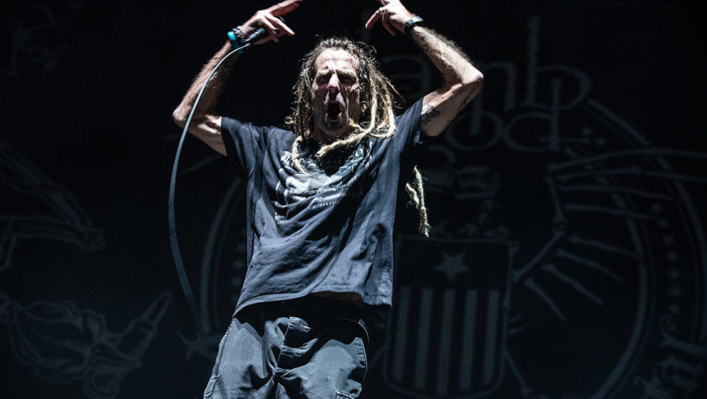 Randy Blythe mit Lamb Of God in der Hamburger Barclaycard Arena