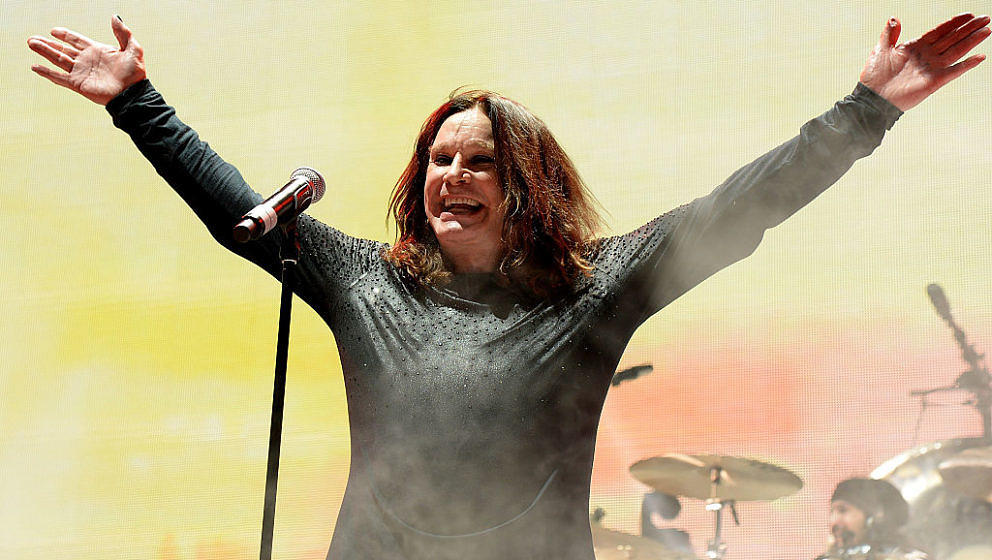 Ozzy Osbourne mit Black Sabbath im Madison Square Garden am 25. Februar 2016.