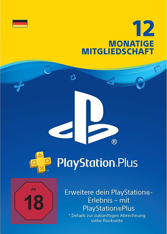 PlayStation Plus: Mitgliedschaft über 12 Monate
