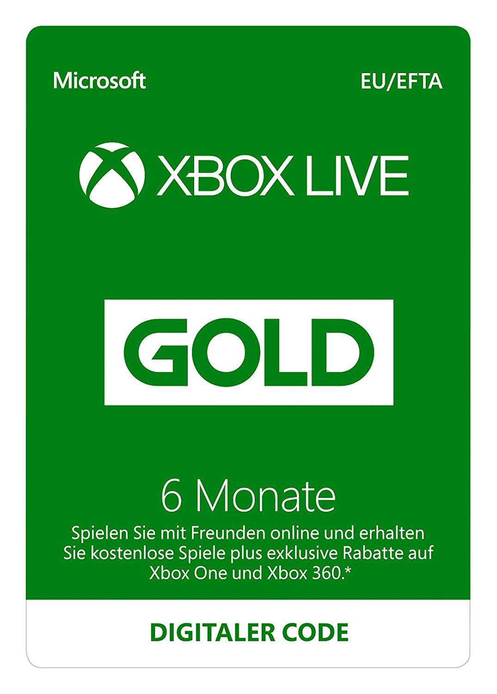 Xbox Live Gold: Mitgliedschaft über 6 Monate