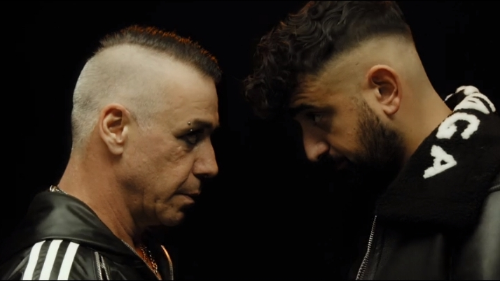 Till Lindemann und Rapper Haftbefehl im Video zu 'Mathematik' (Foto: Screenshot)