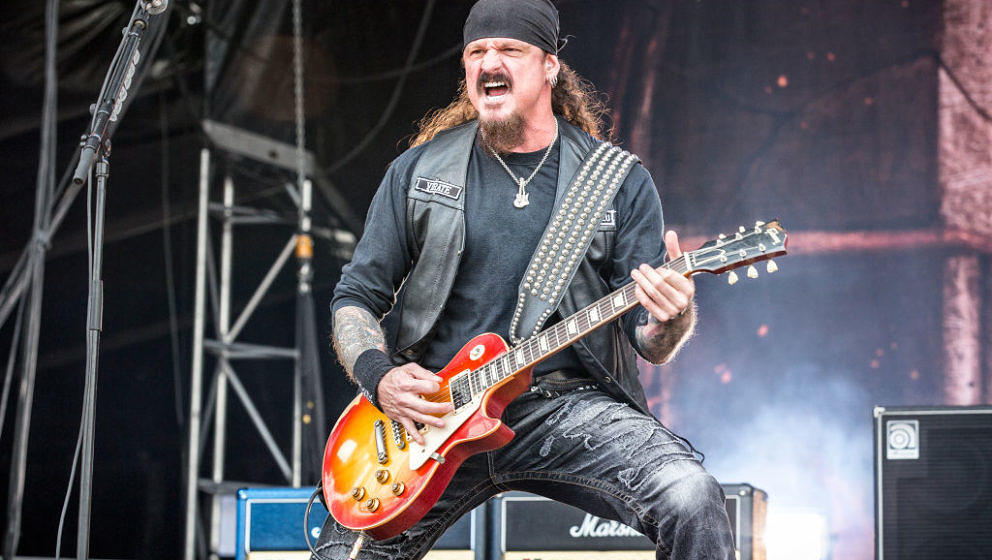 Sweden, Solvesborg - June 8, 2017. The American heavy metal band Iced Earth performs a live concert during the Swedish music