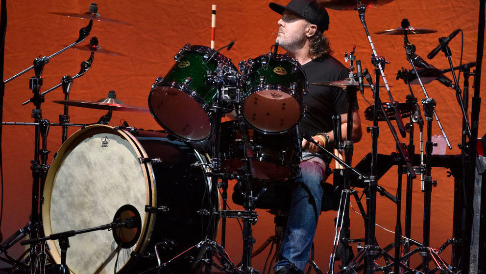SAN FRANCISCO, CA - NOVEMBER 03:  Lars Ulrich of Metallica performs during Metallica's All Within My Hands Foundation's Helpi