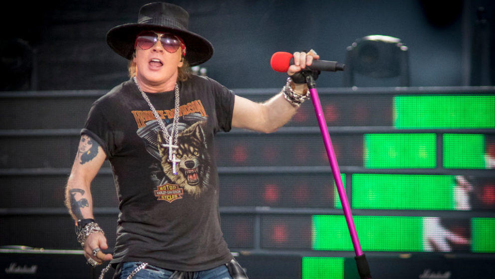 Axl Rose mit Guns N' Roses im Rahmen der 'Not In This Lifetime'-Tour im TD Place Stadium in Ottawa, Kanada, am 21. August 2017
