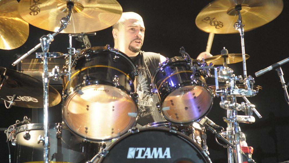 GERMANY - SEPTEMBER 03:  BACKSTAGE  Photo of John DOLMAYAN and SCARS ON BROADWAY, Drummer John Dolmayan performing on stage