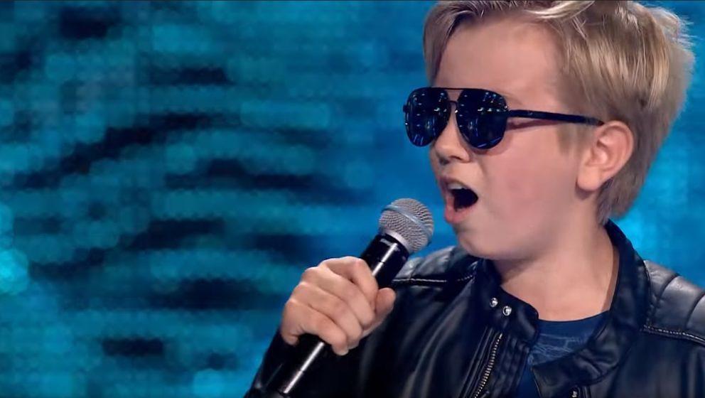 Sebastian Radzimski hat geil abgeliefert in der polnischen Version von The Voice Kids (Foto: Screenshot)