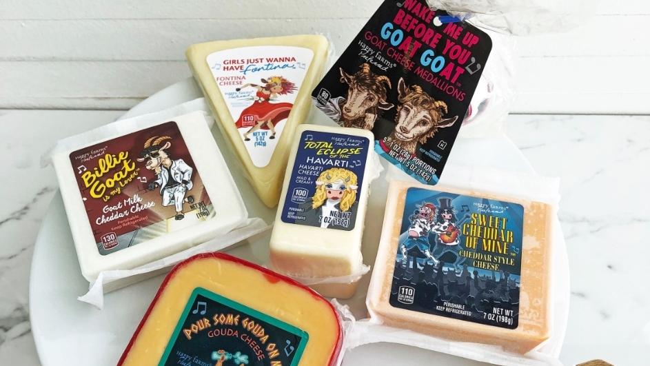 Gerade in den US-Läden von Aldi im Angebot: Rock'N'Roll-Käse-Varianten