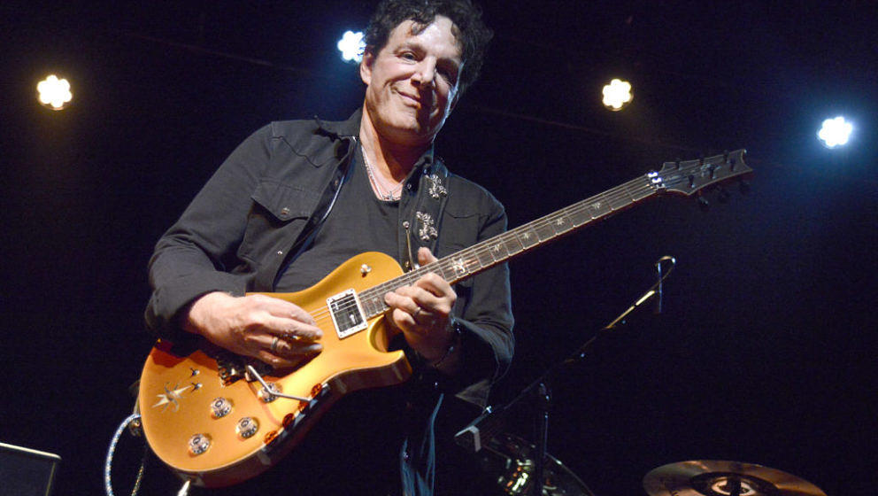 SAN FRANCISCO, CA - FEBRUARY 09:  Neal Schon performs during Neal Schon's Journey Through Time at The Independent on February