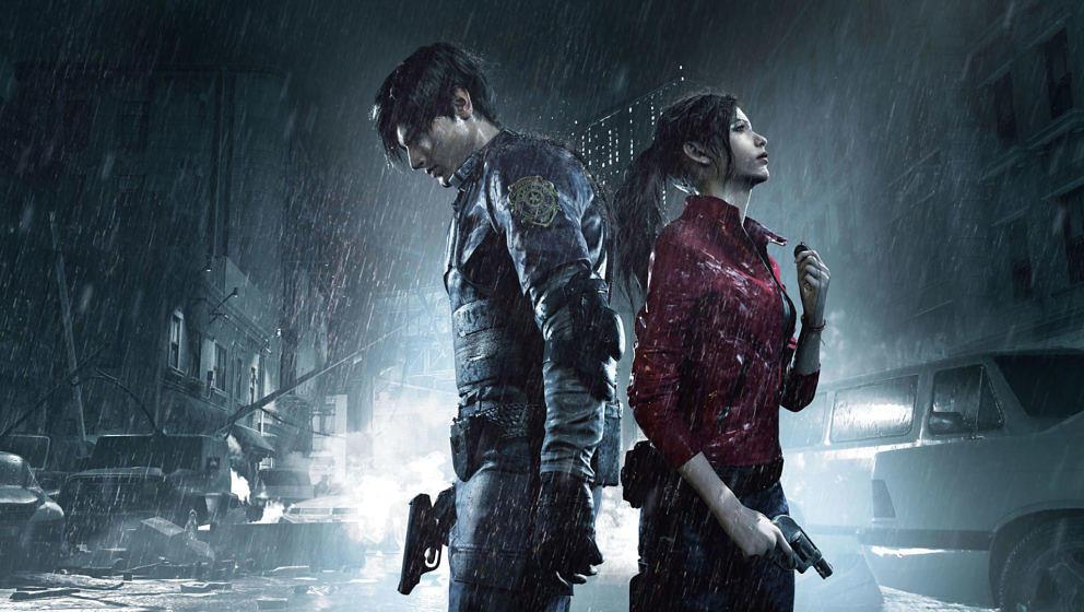 "Leon und Claire in ""Resident Evil 2"""