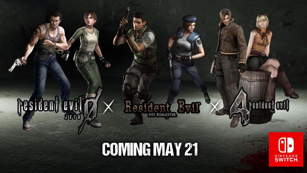 """""""Resident Evil"""": Ausgewählte Titel erscheinen demnächst für die Nintendo Switch"""