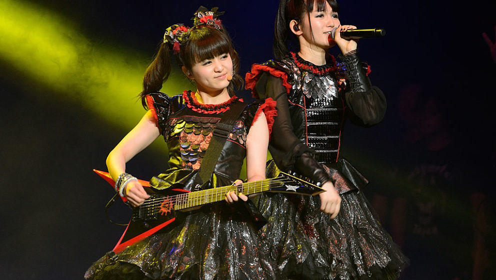 Moametal und Su-metal von Babymetal 2016 im Jerome Schottenstein Center in Columbus, Ohio