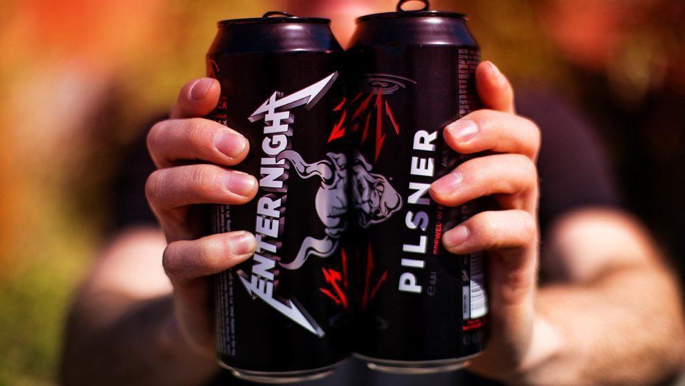 Das Metallica-Bier wird in schicken Dosen erhältlich sein.