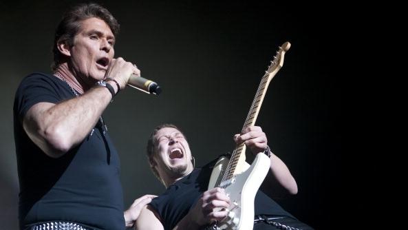 David Hasselhoff rockt im Februar 2011 im Berliner Tempodrom ab