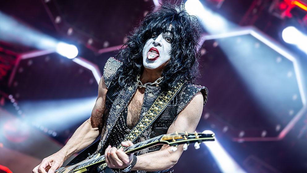 Kiss-Frontmann Paul Stanley beim Auftritt 2019 auf dem Münchener Königsplatz