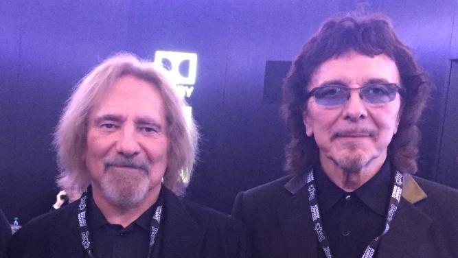 Geezer Butler und Tony Iommy von Black Sabbath beim 'Grammy Salute to Music Legends'