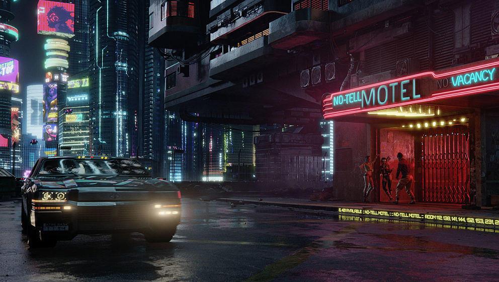 """Die Welt von """"Cyberpunk 2077"""" ist düster und schön zugleich."""