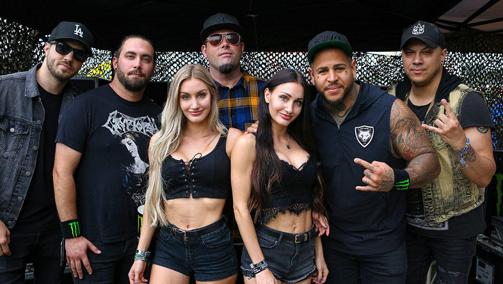 Bad Wolves backstage bei Rock im Park 2019
