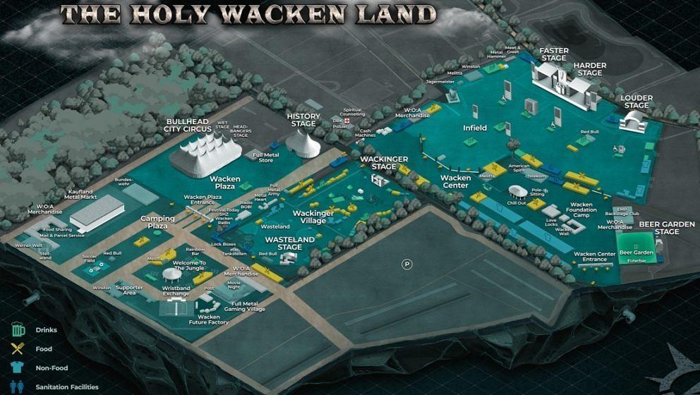 Der aktuelle Geländeplan für das Holy Wacken Land