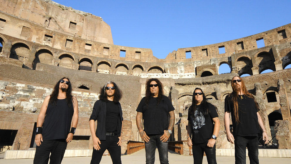 ROME, ITALY- JULY 27, 2016: Testament photographed at The Roman Collisseium in Rome, Italy on July 27,2016.