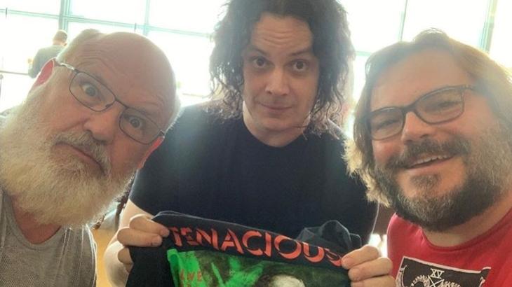 Das neue Trio Infernale: Kyle Gass und Jack Black von Tenacious D mit Jack White von The White Stripes