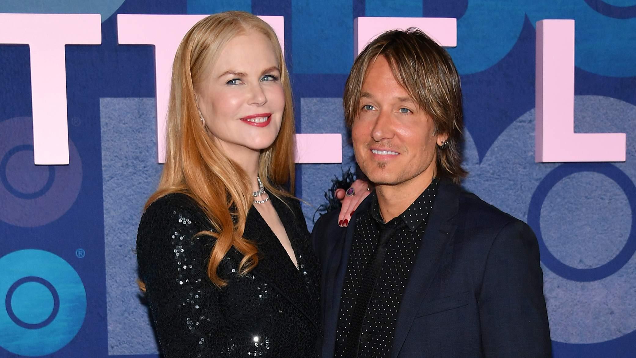 Nicole Kidman und Ehemann Keith Urban schauen sich Iron Maiden-Show an