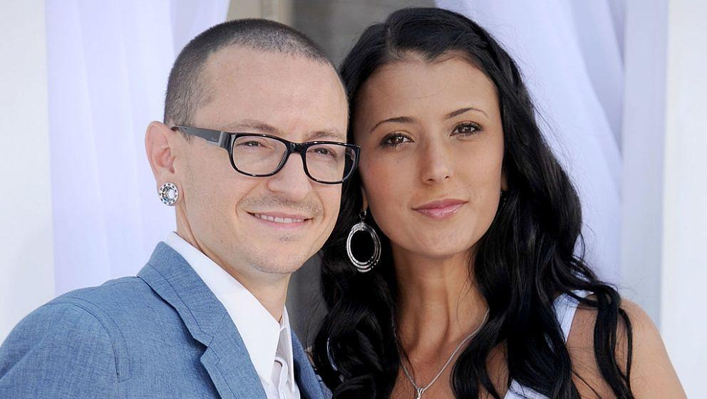 Linkin Park-Sänger Chester Bennington und seine Frau Talinda bei den Billboard Music Awards am 20. Mai 2012 in Las Vegas, Nevada