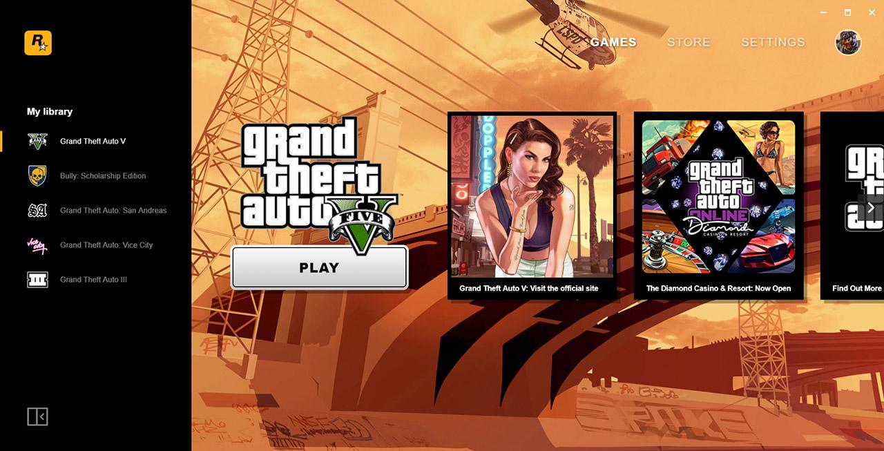 So sieht der Rockstar Games Launcher aus