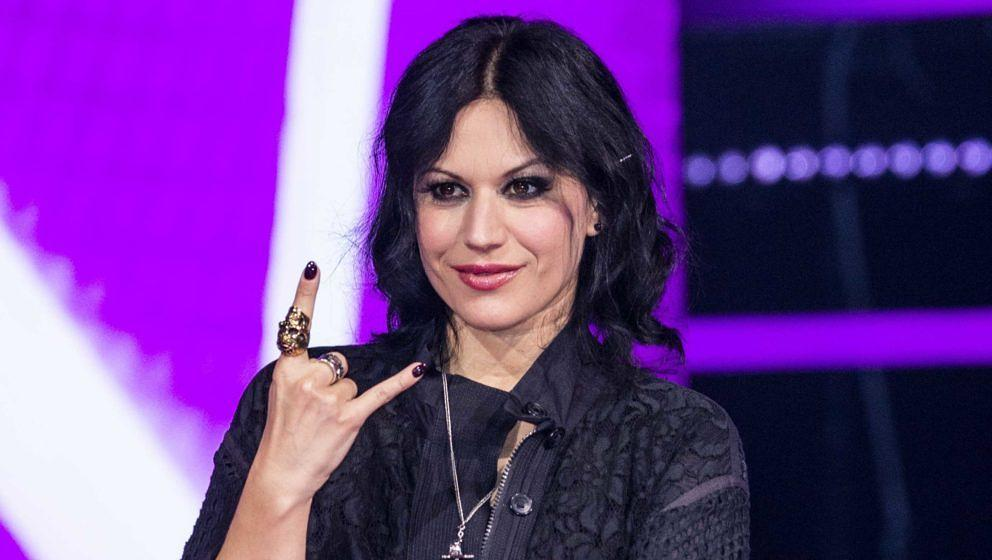 Lacuna Coil-Frontfrau Cristina Scabbia beim 'The Voice Of Italy'-Finale 2018 in Mailand