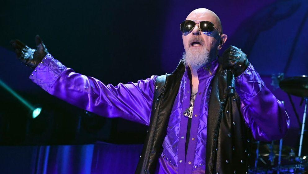 Judas Priest-Frontmann Rob Halford beim Auftritt in Las Vegas, Nevada