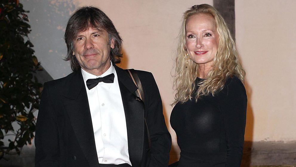 Bruce Dickinson und seine Gattin Paddy Bowden bei einem Gala Dinner im Shakespeare's Globe am 17. Oktober 2013 in London