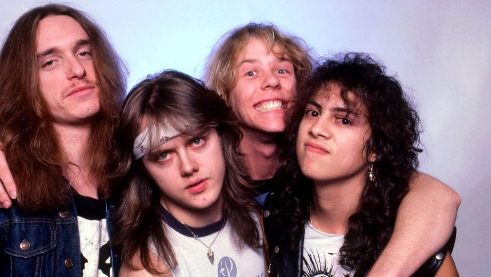 Metallica bei einer Foto-Session am 1. Februar 1985 in Royal Oak, Michigan