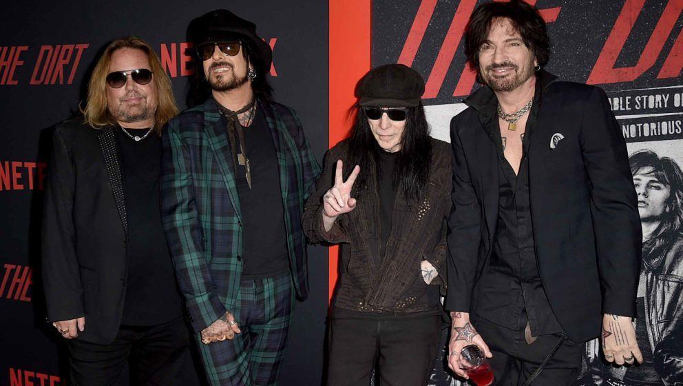 Mötley Crüe bei der Premiere des Netflix-Films 'The Dirt'