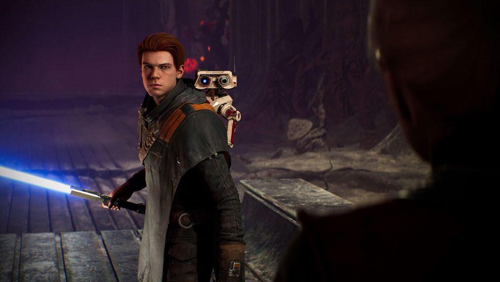 Cal ist die Hauptfigur des Spiels und kann auch sein eigenes Lichtschwert gestaltet.