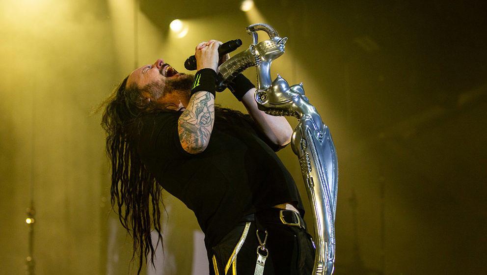 Jonathan Davis von Korn auf der Bühne des vergangenen Aftershock Festivals in Kalifornien.