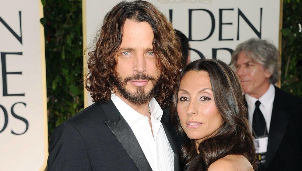 Soundgarden-Sänger Chris Cornell und seine Frau Vicky Karayiannis bei den Golden Globes 2012