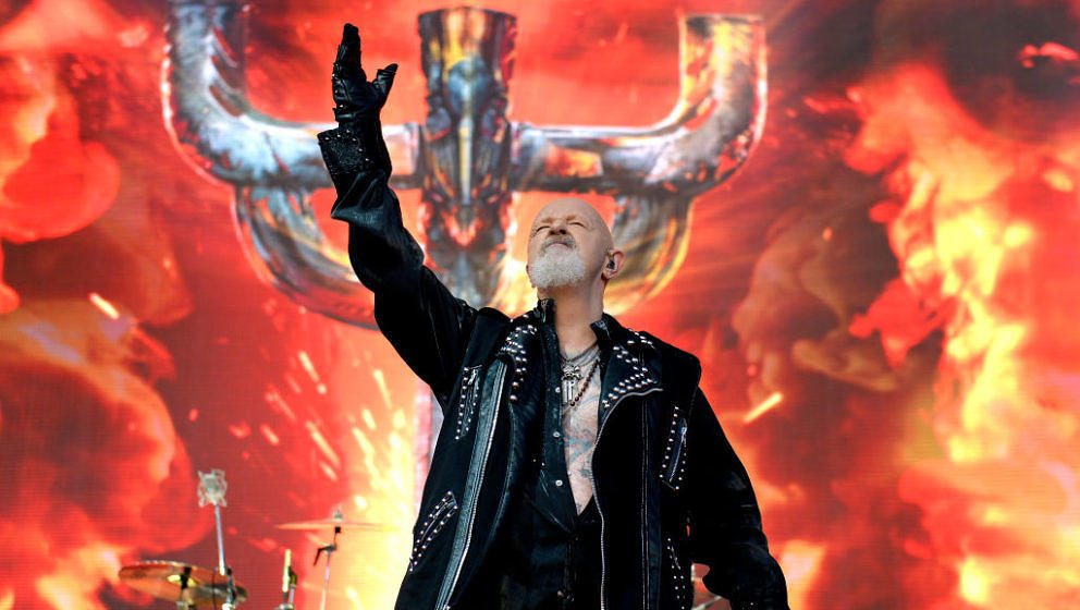 MELBOURNE, AUSTRALIA - MARCH 11: Rob Halford of Judas Priest performs on stage at the Download Festival on 11th March 2019, i