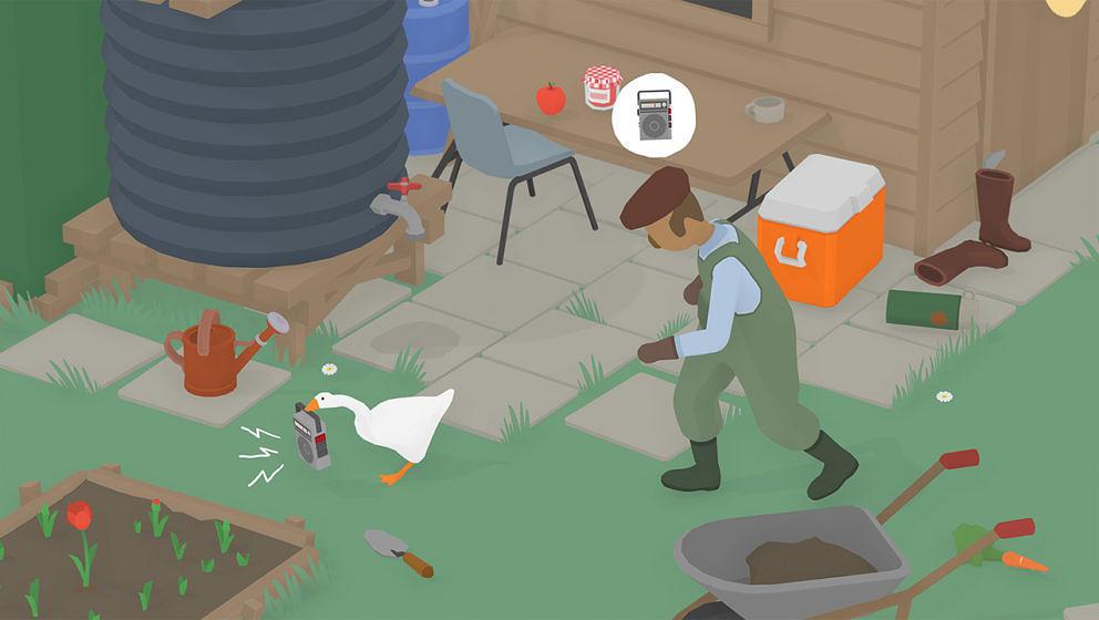 """In """"Untitled Goose Game"""" terrorisiert ih als Gans ein englisches Dorf"""