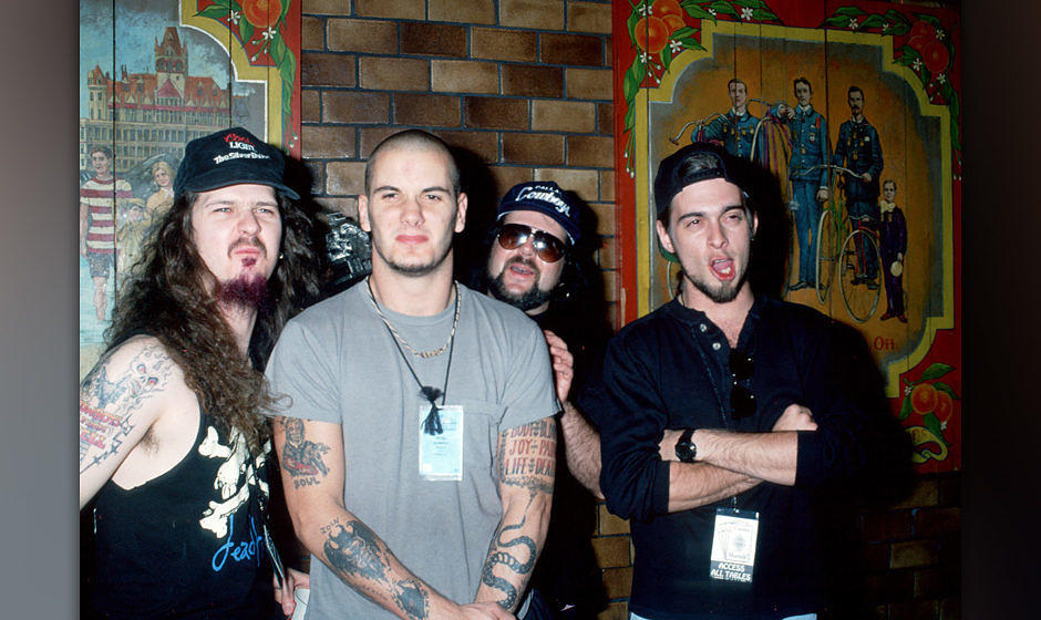 Pantera 1991: Dimebag Darrell, Phil Anselmo, Vinnie Paul und Rex Brown (v.l.)