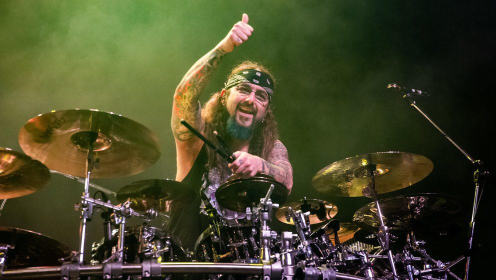 SAN FRANCISCO, CALIFORNIA - JANUARY 26: Drummer Mike Portnoy of Sons of Apollo performs at The Fillmore on January 26, 2020 i