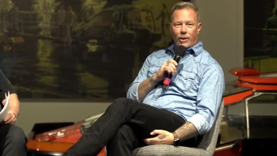 Metallica-Frontmann James Hetfield bei seinem ersten öffentlichen Auftritt nach seinem zweiten Entzug