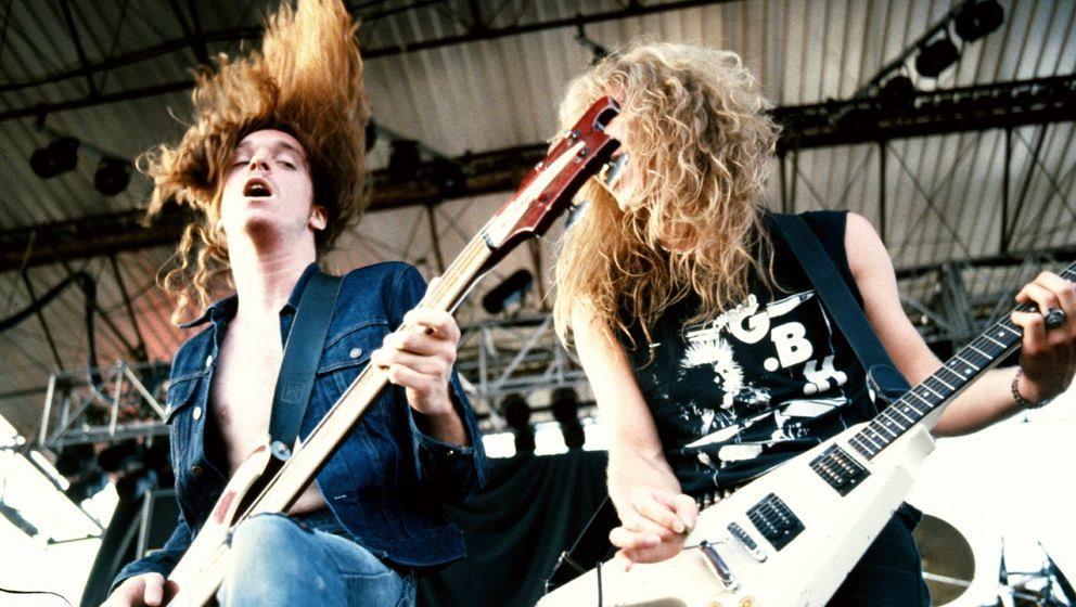 Cliff Burton und James Hetfield live