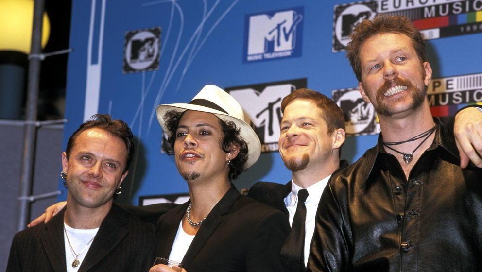 Metallica Mitte der 90er bei den MTV AWARDS EUROPE