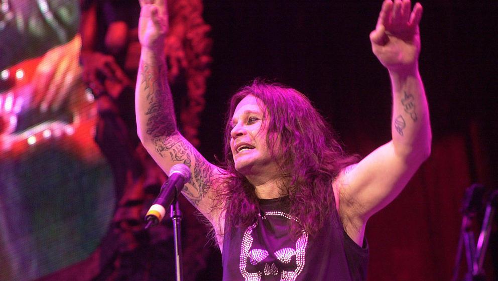 Ozzy Osbourne on 6/8/01 at Ozzfest in Chicago, Il. (Photo by Paul Natkin/WireImage)