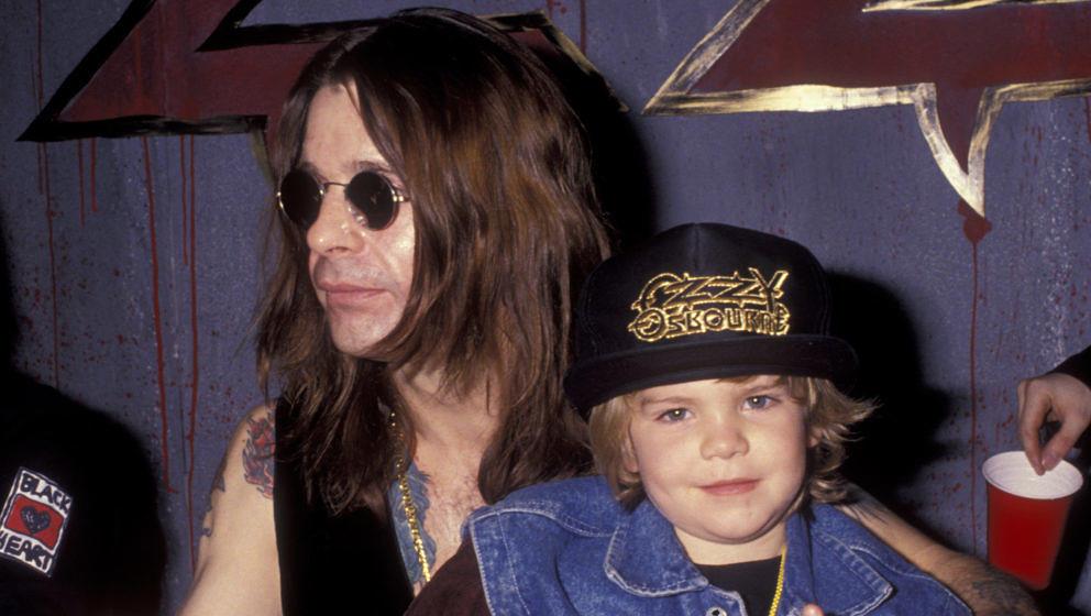 HOLLYWOOD, CA - NOVEMBER 18:  Ozzy Osbourne and Jack Osbourne attend Ozzy Osbourne In-Store Appearance on November 18, 1991 a