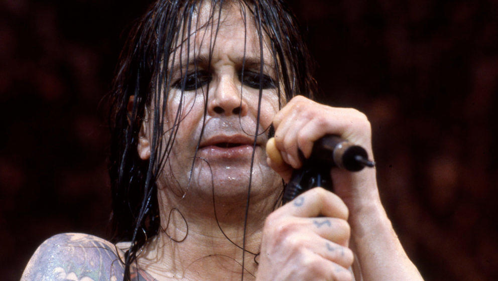 Ozzy Osbourne performs on stage at  Donington, United Kingdom, 1996. (Photo by Martyn Goodacre/Getty Images)