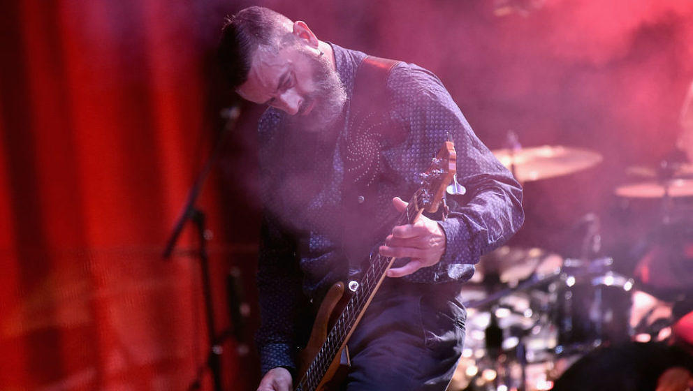 NEW YORK, NY - JUNE 04:  Justin Chancellor of Tool performs onstage during the 2017 Governors Ball Music Festival - Day 3 at