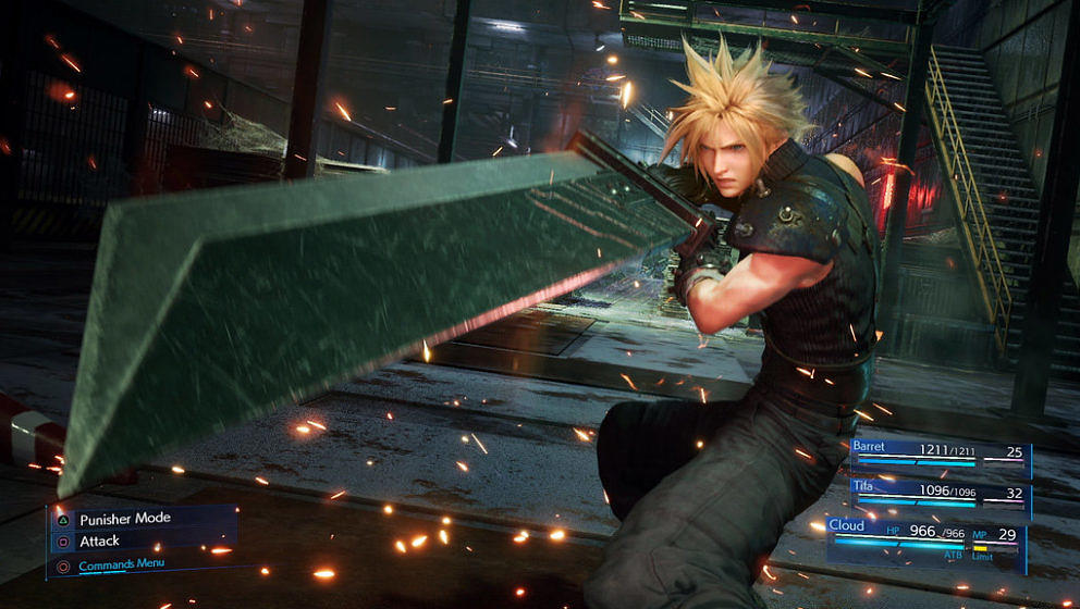 "Cloud Strife in ""Final Fantasy VII Remake"""