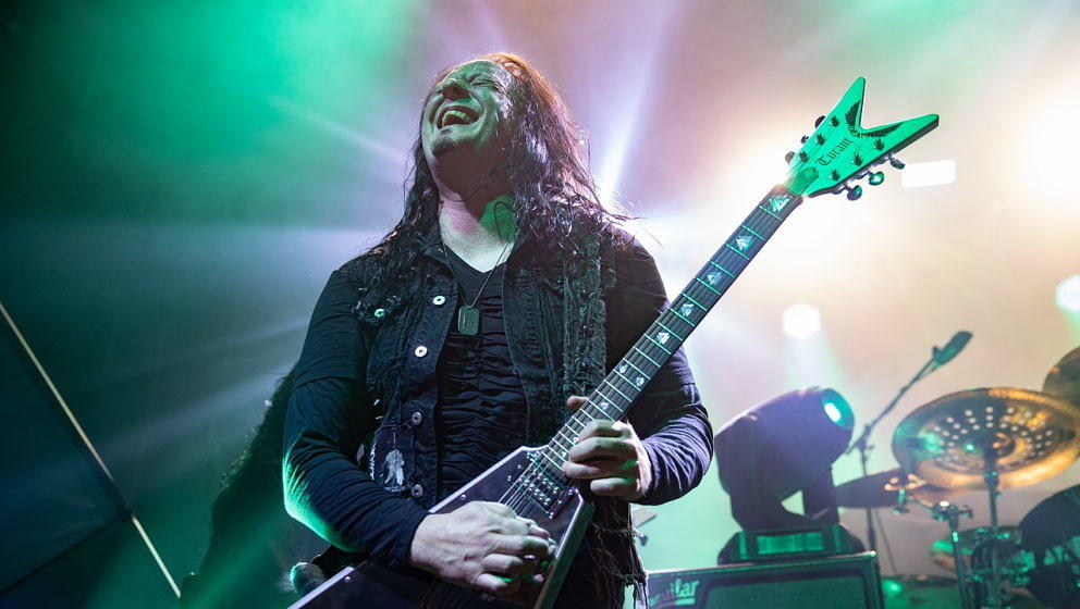 Michael Amott mit Arch Enemy am 25. Oktober 2019 in San Francisco.
