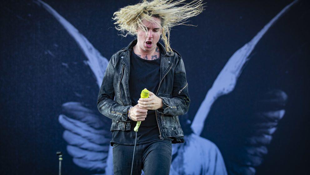 MONTREAL, QC - JULY 28:  Spencer Chamberlain of Underoath performs at the Heavy Montreal festival at Parc Jean-Drapeau on Jul