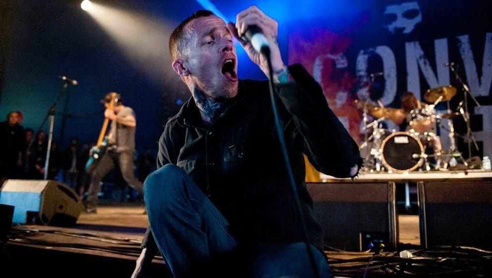 Converge-Frontmann Jacob Bannon beim Download Festival am 14. Juni 2013